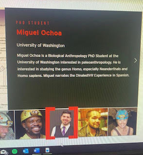 Screenshot of Miguel Ochoa on the Perot Museum website