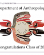 UW Departement of Anthropology congratulations graphic