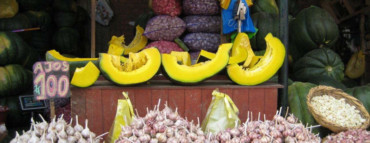 food stand in Peru