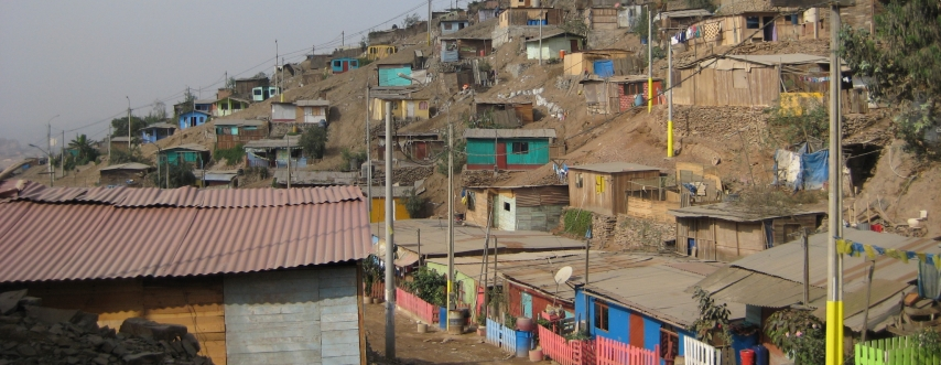 Homes in an informal settlement in the Puente Piedra District of Lima, Peru. Photo by Leah Isquith-Dicker.
