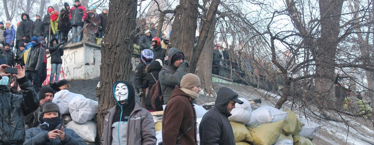 Anti-government protesters in Ukraine