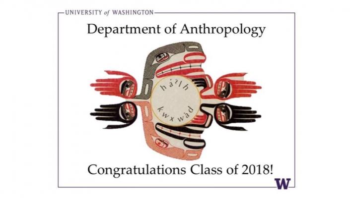 UW Departement of Anthropology congratulations graphic