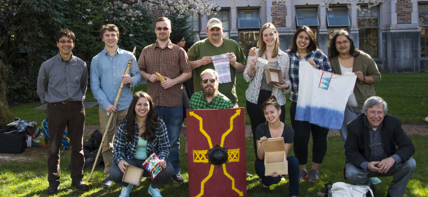 Ethnoarchaeology students with their projects, 2015