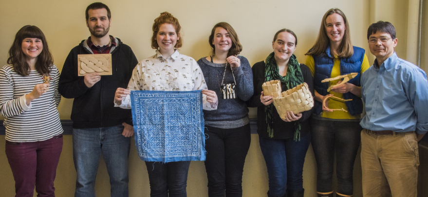 Ethnoarchaeology students with their projects, 2017