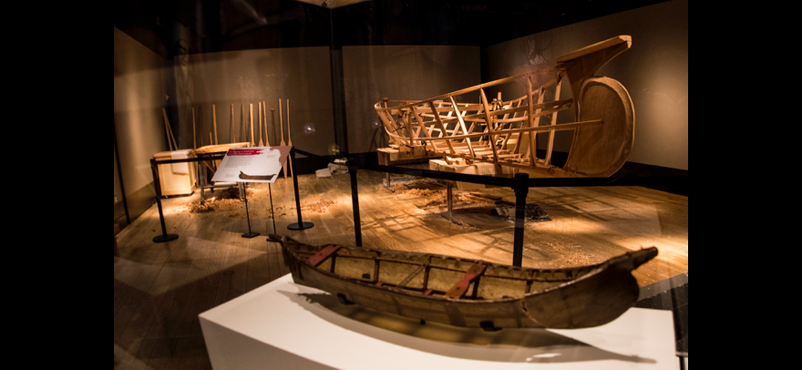 The completed Angyaaq frame in the Burke, December 2015