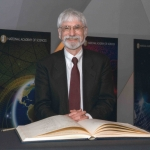 Dr. Donald K. Grayson after signing the member registry during his induction to the National Academy of Sciences in 2014.