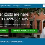 Healthcare.gov website homepage