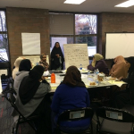 Focus group with Somali doulas and birth educators around a table