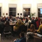 Professor Steve Goodreau welcoming students to career night