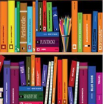 Photo of book spines
