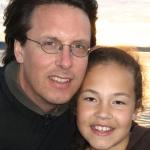 Professor James Pfeiffer with daughter Solea