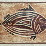 Photo of a carved fish in wood