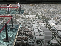 Scale model of a Chinese city
