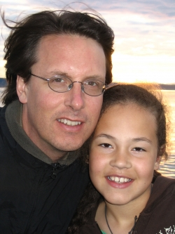 Professor James Pfeiffer with daughter Solea
