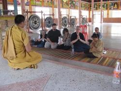 Prof. Charles Keyes meditating
