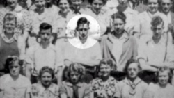 Wayne Suttles highlighted in his class of 1937 Bothell HS photo