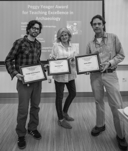 Photo of Rodrigo Solinis-Casparius with Melissa Yeager and Prof. Ben Fitzhugh