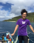 Jiun-Yu on a boat for Ishigaki underwater archaeology project