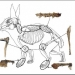 Hare skeleton drawing