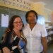 Clarissa Surek-Clark (right), with her former student Mpumelelo Ntshangase