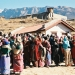 """People in line at a """"health camp"""" in Nepal"""