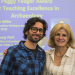 Photo of Rodrigo Solinis-Casparius (one of the award winners) with Melissa Yeager