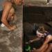 Hari Wibowo (UGM) and Kelsey Lutz (UW Museology) excavate at BN1 on Banda Neira